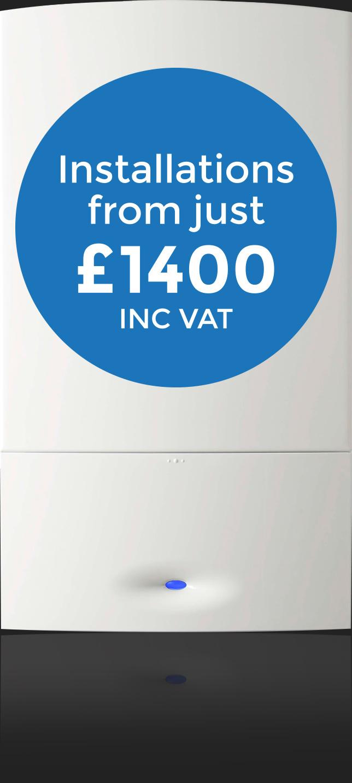 Boiler Installations from just £1400 INC VAT